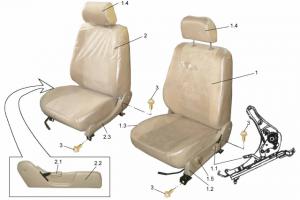 Передние сиденья