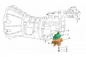 Крепление КПП 4WD