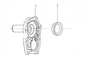 Передняя крышка КПП 035C