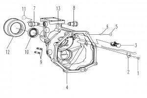 Задняя крышка КПП 035C