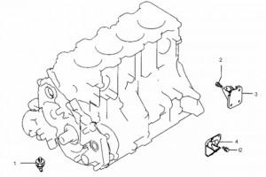 Датчик давления масла и подвеска двигателя