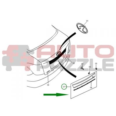 Молдинг крышки багажника (хром)