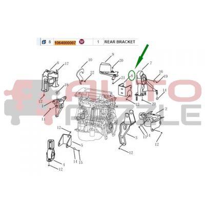 Кронштейн двигателя задний